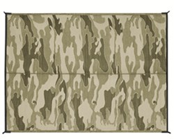 Camco Reversible RV Leisure Mat - 9' Long x 6' Wide - Camouflage