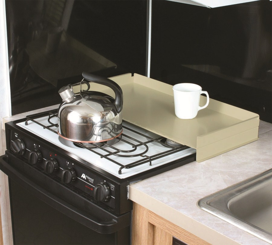 Camco rv universal fit stovetop cover and splash guard - Oven splash guard ...