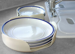 Camco Stack-A-Plate Non-Slip Plate Holders - Qty 2 & Paper Plate Dispenser for Under-Cabinet Installation in RV ...