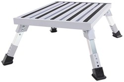 "Camco Adjustable Height Platform Step - Aluminum - 19"" Long x 14-1/2"" Wide - 1,000 lbs"