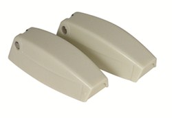 Camco RV Baggage Door Catches - Colonial White - Qty 2