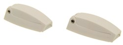 Camco RV Baggage Door Catches - Polar White - Qty 2