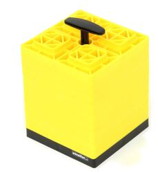 "FasTen RV Leveling Blocks w/ Carrying Handle - 8-1/2"" x 8-1/2"" - Yellow - 2x2 -Qty 10"