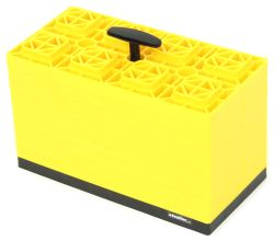 "FasTen RV Leveling Blocks w/ Carrying Handle - 17"" x 8-1/2"" - Yellow - 4x2 - Qty 10"