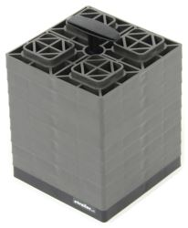 "FasTen RV Leveling Blocks w/ Carrying Handle - 8-1/2"" x 8-1/2"" - Gray - 2x2 - Qty 10"