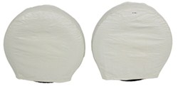 "Camco Vinyl Tire Covers - 30""-32"" - Qty 2 - Colonial White"