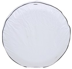 "Camco Vinyl Spare Tire Cover - 28"" Diameter - Arctic White"