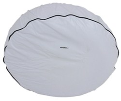 "Camco Vinyl Spare Tire Cover - 27"" Diameter - Arctic White"