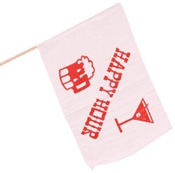 "Camco Happy Hour Flag - 18"" Long x 12"" Wide"