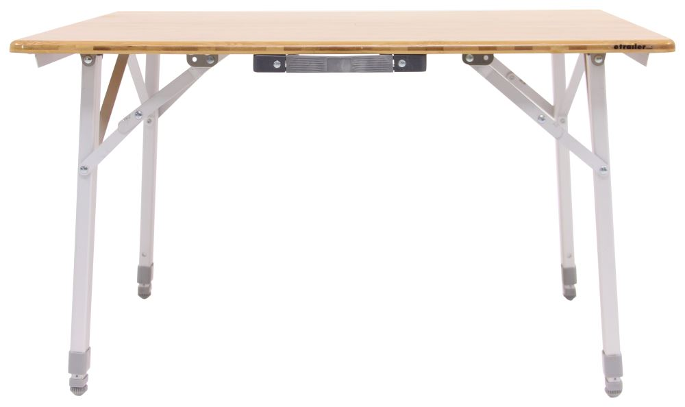 Camco Bamboo Folding Table With Telescoping Legs 18 To