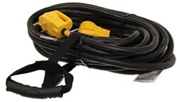 Power Grip RV Temporary Power Cord Extension w/ Carrying Strap - 125V - 30 Amps - 50' Long