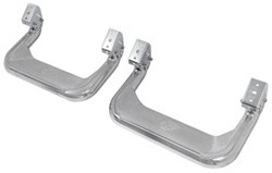 "Carr Custom-Fit Side Steps - Super Hoop - Polished Aluminum - 17"" Step - 1 Pair"