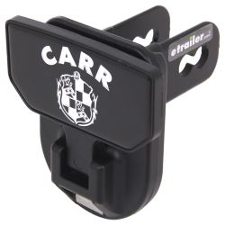 "Carr Hitch Mounted Step for 2"" Trailer Hitches - Black Powder Coat Aluminum - CARR Logo"