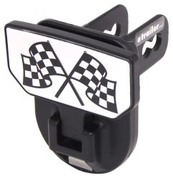 "Carr Hitch Mounted Step for 2"" Trailer Hitches - Black Powder Coat Aluminum - Checkered Flags"