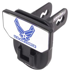 "Carr Hitch Mounted Step for 2"" Trailer Hitches - Black Powder Coat Aluminum - US Air Force Logo"