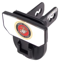 "Carr Hitch Mounted Step for 2"" Trailer Hitches - Black Powder Coat Aluminum - US Marine Corps"