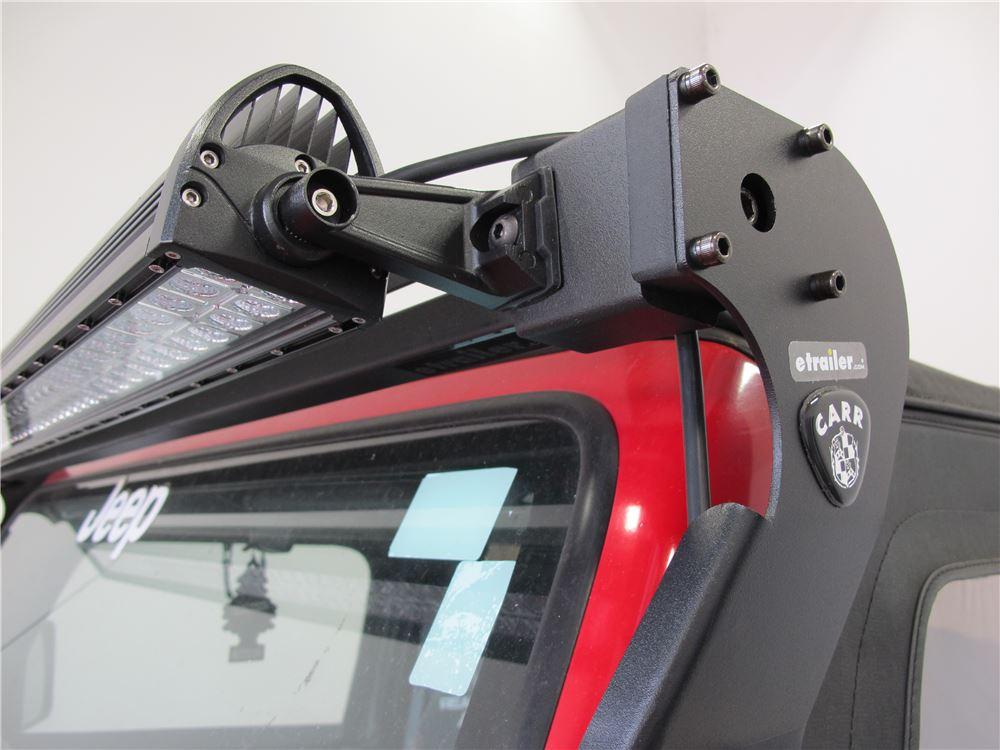 Carr Xrs Rota Light Mounting Bar For Jeep Wrangler Black
