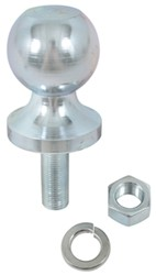 "1-7/8"" Hitch Ball - 5/8"" Diameter x 1-5/8"" Long Shank - Zinc - 2,000 lbs"