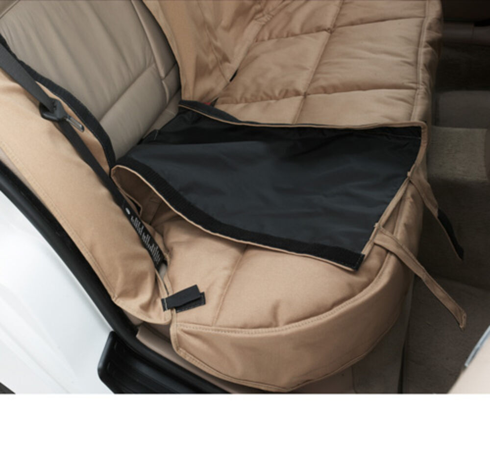 canine covers custom fit seat protector for rear bench seats conceal brown canine covers seat. Black Bedroom Furniture Sets. Home Design Ideas