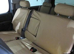 Covercraft SeatSaver Custom Seat Covers   Second Row   Tan