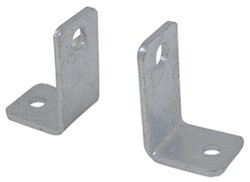 CE Smith Side Angle Mounting Brackets for Boat Trailer Rollers - Galvanized Steel - 1 Pair