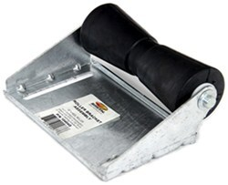 CE Smith Deep V Keel Roller Assembly for Boat Trailers - Galvanized Steel/Black Rubber - 10""