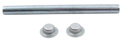 "Roller Shaft with Pal Nuts for Boat Trailer Rollers - Zinc-Plated Steel - 6-1/4"" x 1/2"""