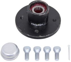 CE Smith Trailer Hub Assembly w/ Carrying Case for 2,500-lb Axles - 4 on 4 - Pre-Greased - Threaded