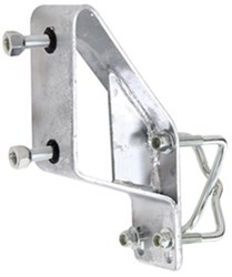 CE Smith Offset Spare Trailer Tire Carrier - Galvanized Steel - 4- and 5-Lug Wheels