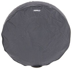 "CE Smith Spare Tire Cover - 12"" Diameter x 6-1/2"" Wide Trailer Tires - Black"