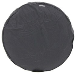 "CE Smith Spare Tire Cover - 25"" Diameter x 7-1/2"" Wide Trailer Tires - Black"