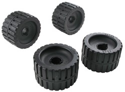 "CE Smith Ribbed Wobble Rollers for Boat Trailers - Rubber - 3/4"" and 1-1/8"" Shafts - Qty 4"
