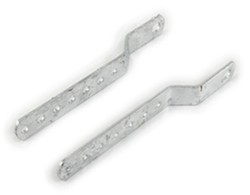 "CE Smith Adjustable Mounting Brackets for Keel Rollers - Galvanized Steel - 11-1/2"" L - 1 Pair"