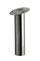 "70 Series Fishing Rod Holder - 15-Deg Flush Mount - Open Bottom - 1-5/8"" ID - Stainless Steel"
