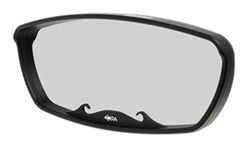 "CIPA Wave Rearview Boat Mirror - Convex - Round Windshield Mount - 17"" x 7"" - Black"