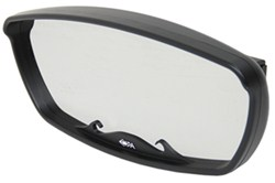 "CIPA Wave Rearview Boat Mirror - Convex - Square Windshield Mount - 17"" x 7"" - Black"