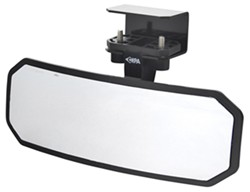 "CIPA Rearview Boat Mirror - Convex Glass - Windshield Mount - 8"" Long x 2-1/2"" Wide"
