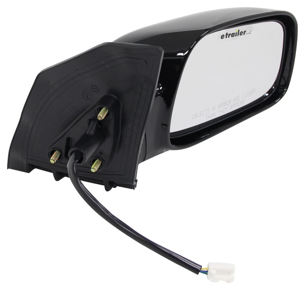 Cipa replacement side mirror electric gloss black for Mirror replacement