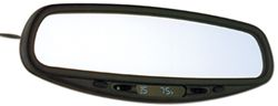CIPA Auto-Dimming Rearview Mirror with Compass, Map Lights and Temperature Display - Wedge Mount