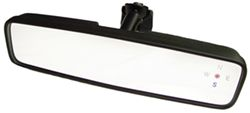 CIPA Compass Rosette Rearview Mirror with Day/Night Switch - Wedge Mount