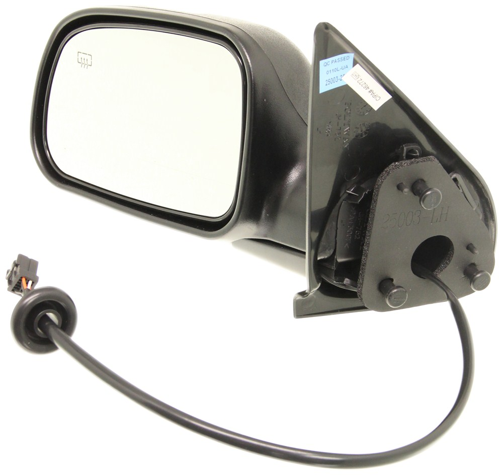 Cipa replacement side mirror electric heated black for Mirror replacement