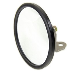 "CIPA Round, Convex HotSpot Mirror - Bolt On - 5"" Diameter - Black - Qty 1"
