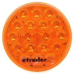 "Amber Trailer Turn Signal, 18 Diode LED, 4"" Round"