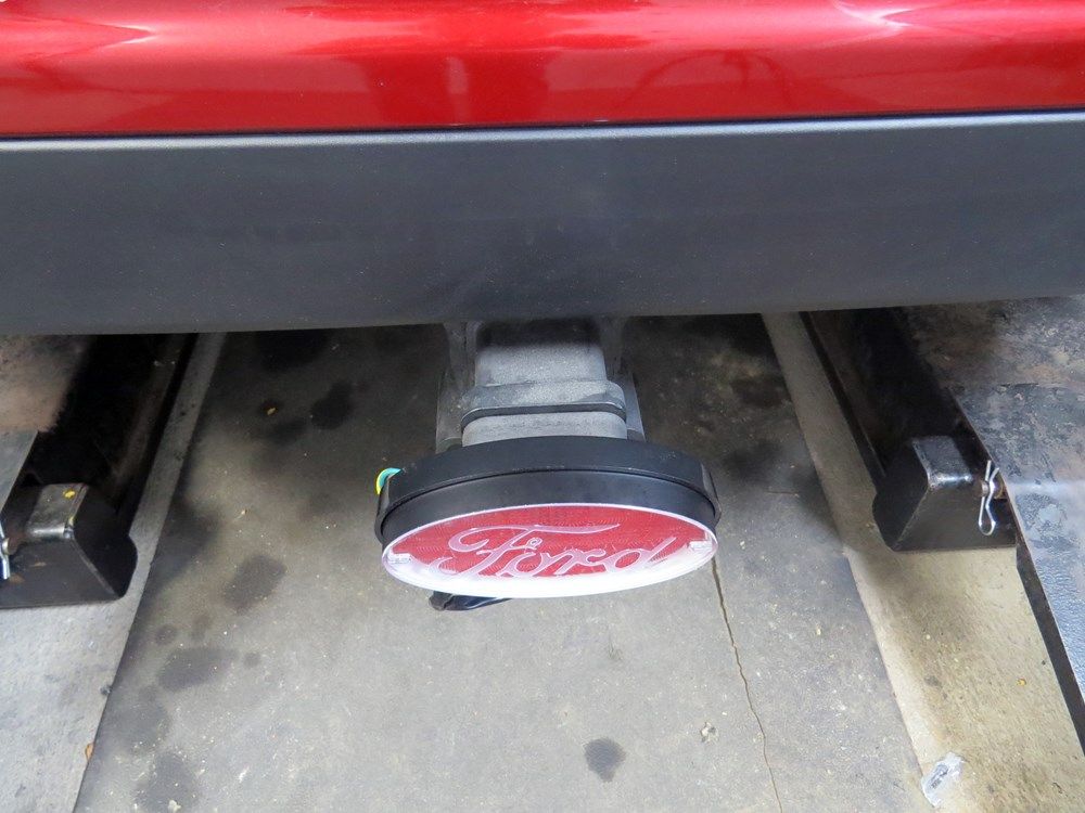 2015 ford edge ford brake and tail light l e d trailer hitch cover. Black Bedroom Furniture Sets. Home Design Ideas