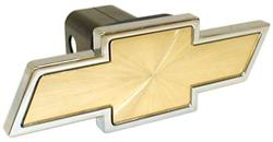 Chevrolet - Chrome and Gold Trailer Hitch Receiver Cover