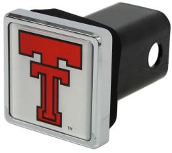 "Texas Tech Red Raiders Trailer Hitch Receiver Cover - 2"" Hitches - Square - Chrome Plated"
