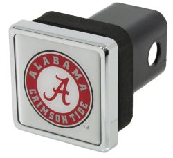 "Alabama Crimson Tide Trailer Hitch Receiver Cover - 2"" Hitches - Square - Chrome Plated"