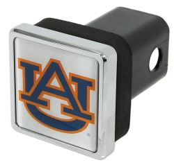 "Auburn Tigers Trailer Hitch Receiver Cover - 2"" Hitches - Square - Chrome Plated"