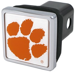 "Clemson Tigers NCAA Logo 2"" Trailer Hitch Cover - Square, Chrome"