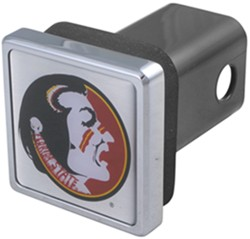 "Florida State Seminoles NCAA Logo 2"" Trailer Hitch Cover - Square, Chrome"